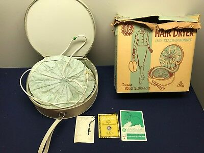 Vintage Ge General Electric Bonnet Leading Lady Hair Dryer Hd5  W/box Works