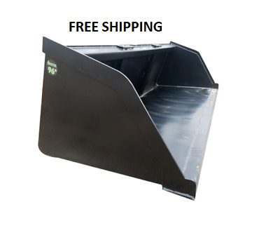 "New Powder Coated 96"" Snow/mulch/dirt/gravel Bucket For Skid Steer Free Shipping"