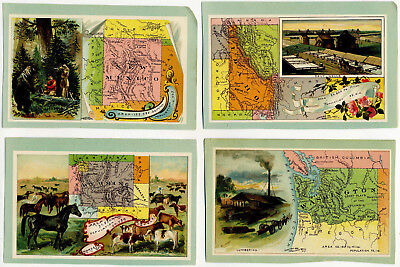 1889 Genuine Antique Collector State Advertising Cards. Arbbuckle Bros. Coffee
