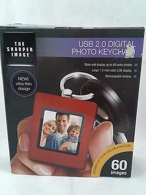 Sharper Image Usb 2.0 Digital Photo Keychain, Ultra-Thin Design, New In Box
