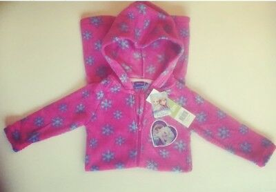 Disney Frozen Fleece All in One Hooded Pyjamas Nightwear Sleepsuit Pink 2 - 5yrs
