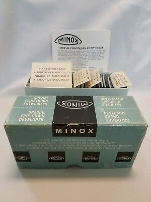 Vintage MINOX SPECIAL FINE GRAIN DEVELOPER in BOX with INSTRUCTIONS