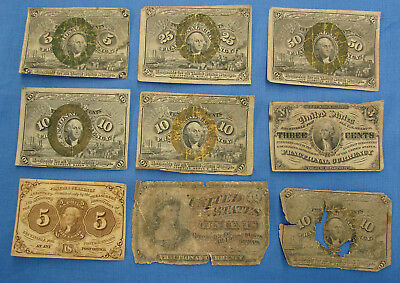 *nice Lot Of Assorted Fractional Currency Postage - Estate Fresh*