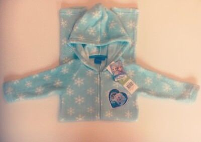 Disney Frozen Fleece All in One Hooded Pyjamas Nightwear Sleepsuit Blue 2 - 5yrs