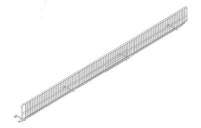 Lozier Wire Bin Front 3 In. X 48 In. Chrome Finish Pack of 20