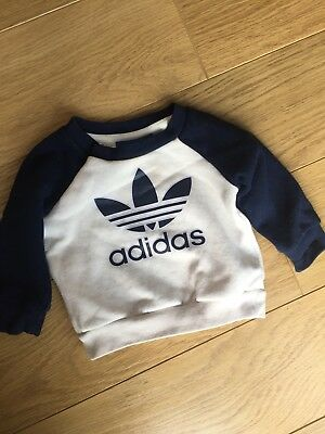 Adidas Baby Boy Tracksuit Jumper Sweatshirt 3-6 Months Mint Condition