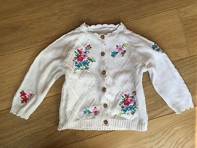 Tu 2017 Baby Girl White Floral Embroidered Cardigan 9-12 Months
