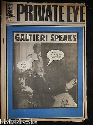 PRIVATE EYE - Vintage Satirical Political News Humour Magazine - 7th May 1982
