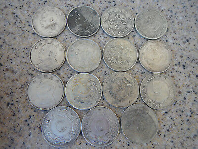 34th Year of Kuang Hsu Pei Yang Chinese coins - Copies Not silver - Lot of 15