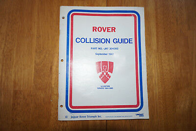 Rover 2000  3500 OEM Collision Guide  1964 1965 1966 1967 1968 1969 1970 1980