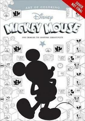 NEW Art of Coloring: Mickey Mouse and Minnie Mouse By Disney Book Group Paperbac