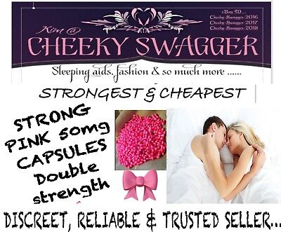 >300 xStrong Sleeping Pills Tablet 50mg Pink Capsules 🎀ONLY £49.99!!??