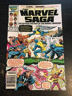 The Marvel Saga#16 Incredible Condition 9.2(1987) Avengers Vs X-men