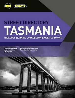 NEW Tasmania Street Directory  By UBD Gregory's Paperback Free Shipping