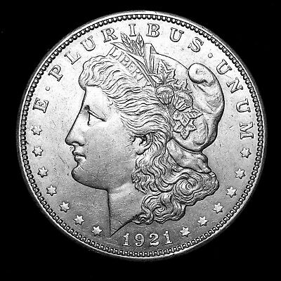 1921 D ~**ABOUT UNCIRCULATED AU**~ Silver Morgan Dollar Rare US Old Coin! #44
