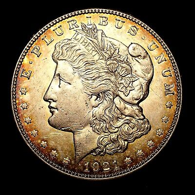 1921 D ~**ABOUT UNCIRCULATED AU**~ Silver Morgan Dollar Rare US Old Coin! #46
