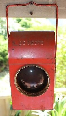 Roadworks Railway Warning Lamp Hazard Lantern by Chalwyn- De Neefe