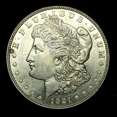 1921 D ~**ABOUT UNCIRCULATED AU++**~ Silver Morgan Dollar Rare US Old Coin! #53