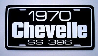 1970 CHEVY Chevrolet SS 396 Chevelle Super Sport license plate tag 70 Big Block