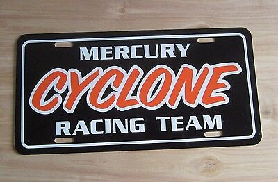 Mercury CYCLONE RACING Team License plate tag Comet 1964 1965 1966 1967 1968 69