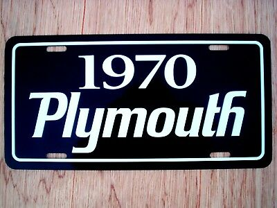 1970 Plymouth license plate car tag 70 Road Runner Duster GTX Barracuda Scamp
