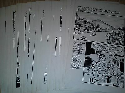 Mexican PULP GANGSTERS NURSE ORIGINAL COMIC ART 1970s COMPLETE STORY 32 pages
