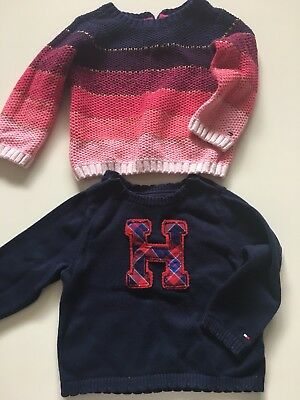 Tommy Hilfiger Girl Jumpers X 2 Size 18mth