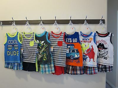 Healthtex Baby Toddler Boys' 2T 3T 4T 5T Graphic Tank and Shorts Outfit Set