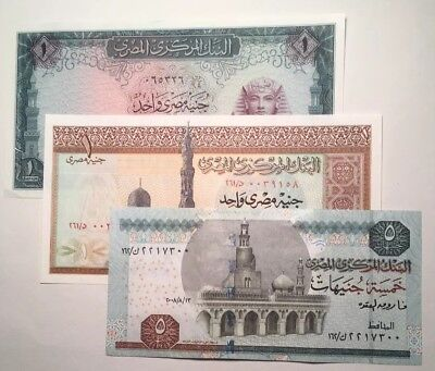 Set of 3 - Egypt Banknotes - HIGH GRADE/LOW RESERVE!