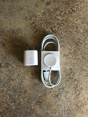 New Real Genuine Authentic Apple Watch Magnetic Charging Cable W Power Adapter