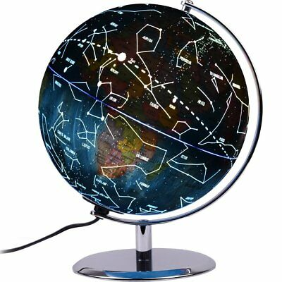 Replogle 12 led illuminated day and night globe earth constellation 9 inch led world map globe constellation kid learning geographic earth desktop gumiabroncs Gallery
