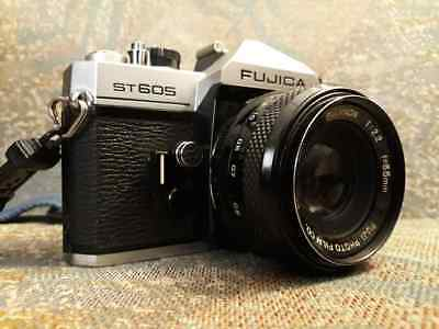 FUJICA ST605 SLR Body Only with case and strap. Good condition.
