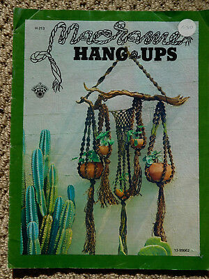 Vintage Macrame HANG UPS -  1973- see pics for projects