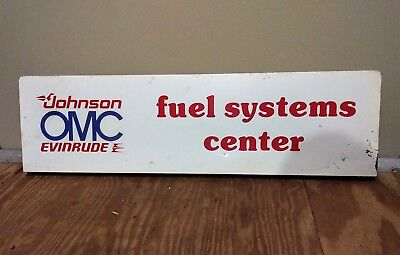 "Vintage Johnson OMC Evinrude Outboard Dealership Display Sign 36"" x 10"" x 1 1/4"