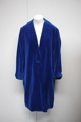 Ladies Royal Blue Vintage Hand Sewn Evening Coat, Size L