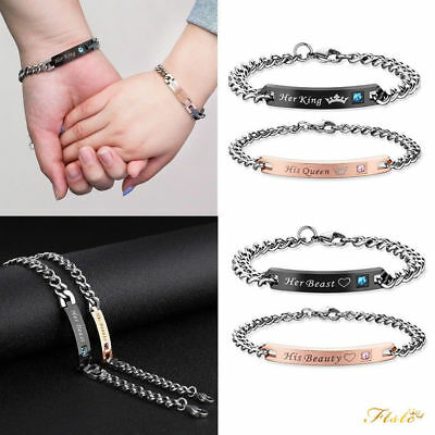 image bracelets her engrave bracelet home jewelinsp romantic gagafeel customized queen product lover stainless products king steel grande decor bangle inspirational his couple