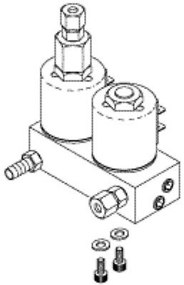 Midmark M11 M9 Replacement Fill & Vent Solenoid Valve & Manifold Assembly 120v