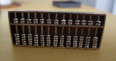 Antique Chinese Export Miniature Silver Abacus marked Wang Hing. Late 19th c