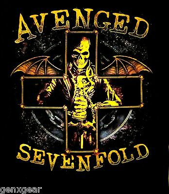 AVENGED SEVENFOLD cd lgo STELLAR Official Black SHIRT XL new