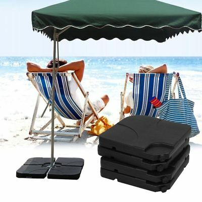 4pcs Square Sand Water Stand Base For Umbrella Patio Beach Yard