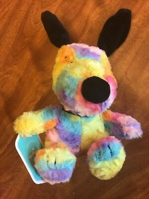 Hallmark Peanuts Snoopy Easter Plush Ty Dye Rainbow Colors Great for Basket