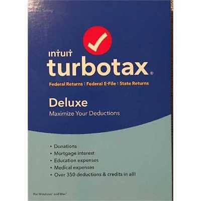 TurboTax(R) Deluxe Fed + State + E-File 2016, For PC/Mac, Traditional Disc