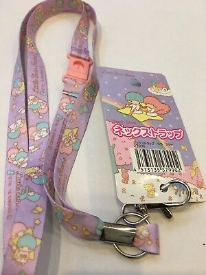 SANRIO Little Twin Stars Kiki & Lala ♡ Key Chain Lanyard Neck Strap Kawaii JAPAN