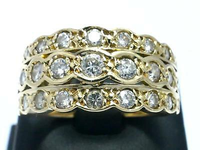 Uhren & Schmuck Ring 585 Gold Bague Or Brillant Diamant Diamond Anello Anillo Oro Art Deco 14kt Echtschmuck
