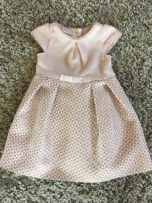 Baker By Ted Baker Girls Pink Lined Dress 6-9 Months