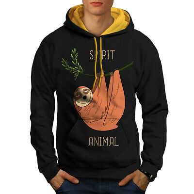 My Spirit Animal Hoodie Sloth Animal Real Hanging on Branch Chill Jumper L70