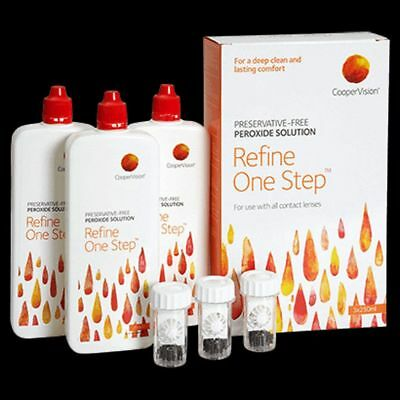Coopervision Refine One Step Peroxide was Sauflon Multi 3 x 250ml 3 month Pack
