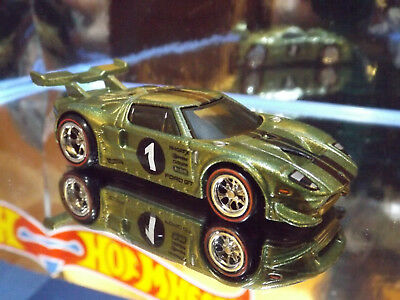 Hot Wheels Real Riders Custom Ford Gt Lm In Green Gift Box Exclusive Loose