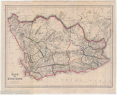 KAP DER GUTEN Hoffnung-Cape of Good Hope-Afrika-Karte-Map 1860 ...