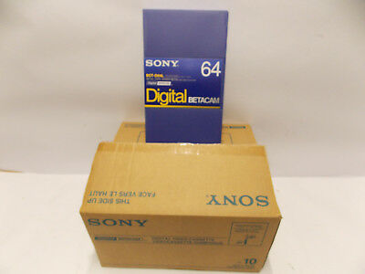 Sony BCT BCT-D 64 L Digital Betacam Tapes 10er pack <>